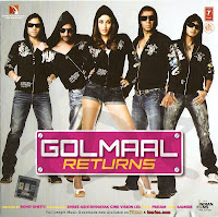 image of leading stars of golmaal returns making comical faces
