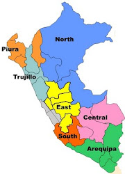 Mission Areas of Peru