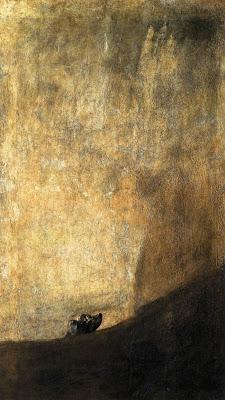 Goya - Perro semihundido o cabeza de perro