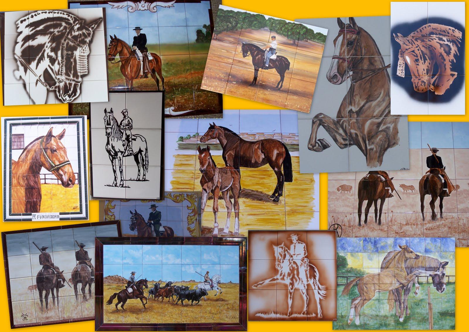 Azulejos la herradura murales de caballos - Murales de azulejos ...