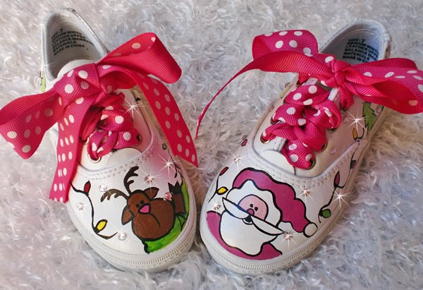 Hand painted Christmas Tennies
