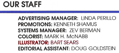 Bart Sears Wizard #1 staff credits