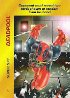 Bart Sears Marvel Overpower - Deadpool Super Spy card