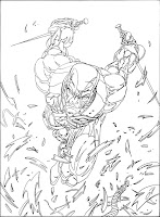 Bart Sears Marvel Overpower - Deadpool Super Spy pencils