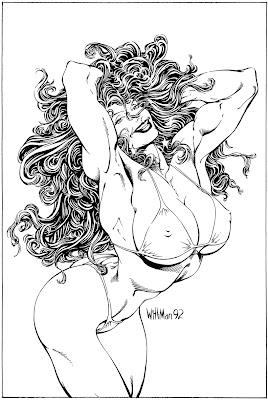 Bart Sears Wizard Unused Cover - She-Hulk 2