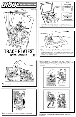 Bart Sears GI Joe Trace Plates Instruction Manual