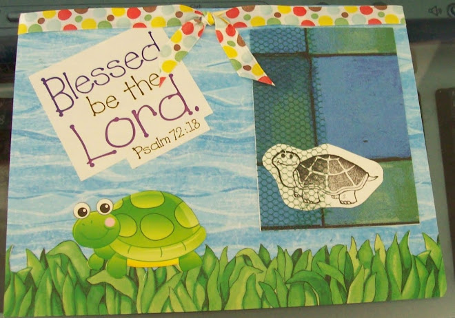 Turtle ATC with scripture sticker