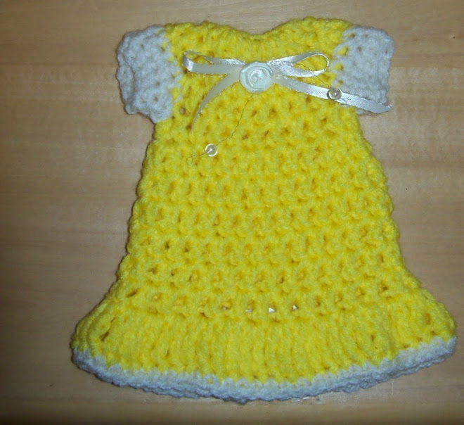 Yellow dish soap dress