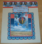 3D card - Hot air balloons - Hope your day is uplifting!
