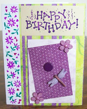 Birthday card with ATC on front!