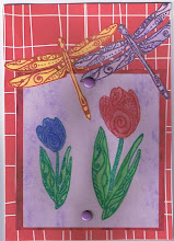 Tulip & Dragonfly Card