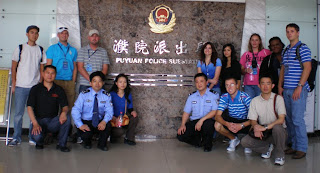 SHSU Study Abroard students at the Puyuan Police Substation
