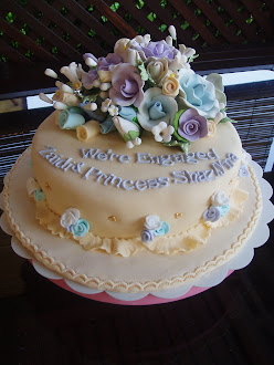 Sample Fondant cake-wedding/engagement