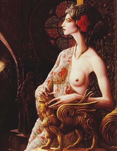 Alberto Abate - Peintre dans Peinture Alberto%2BAbate%2B-%2BNotre-Dame%2Bde%2Bla%2BRose-Croix,%2B1992