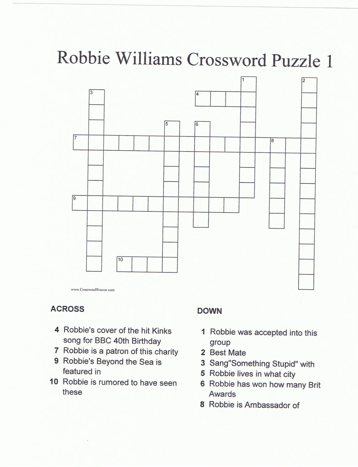 Image Result For Crossword Clue A Songbird