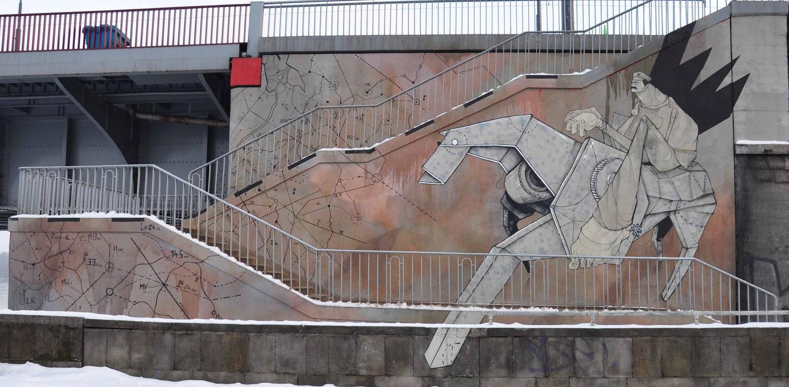 Patriotyczny mural - Józef Piłsudski