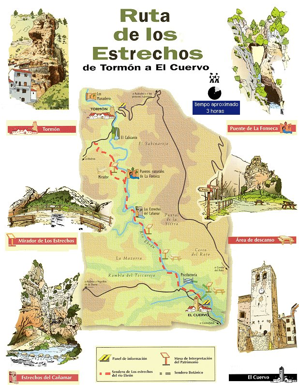 Ruta de los Estrechos desde Tormón a El Cuervo en Teruel