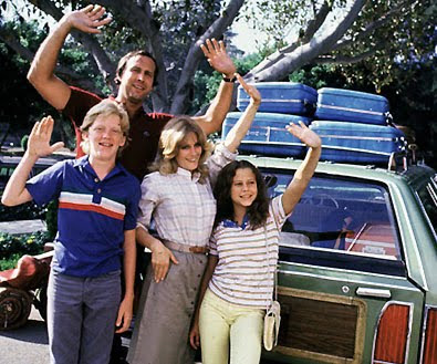 Image of the Griswolds not getting spiritually recharged on vacation.