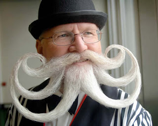 Strange beards and mustaches