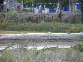 Stabilizare dig Galati, iulie 2010