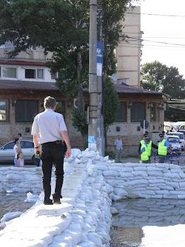 Patrulare dig director general Apele Romane, Galati, iulie 2010