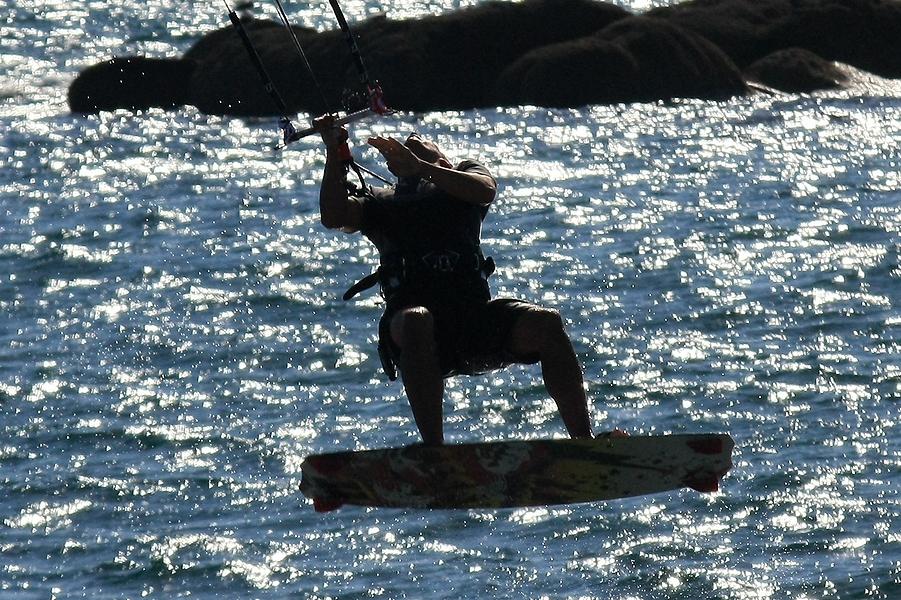 Kite surf à Trévignon.