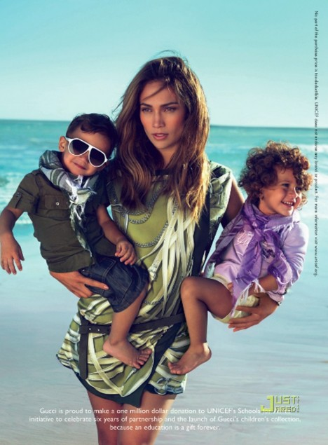 jennifer lopez kids gucci ad. Gucci will reportedly be