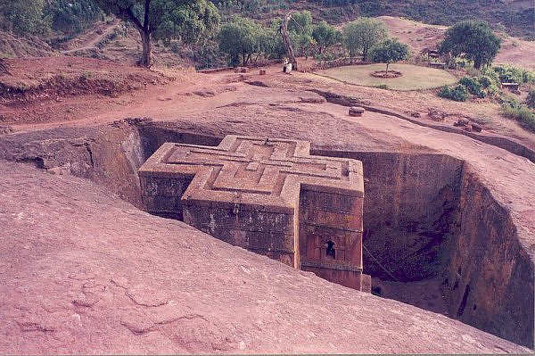 Ethiopia s cross shaped church carved out of unbroken stone