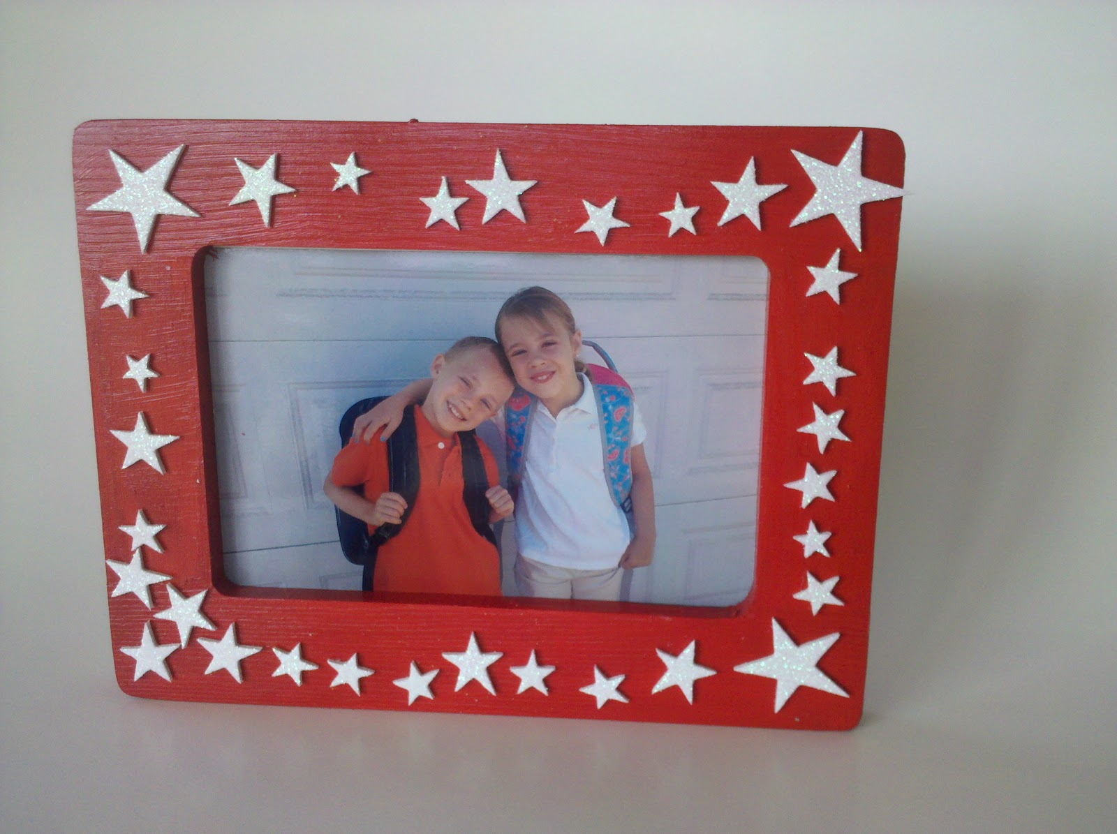Be Brave, Keep Going: Easy Painted Photo Frame Kids Craft