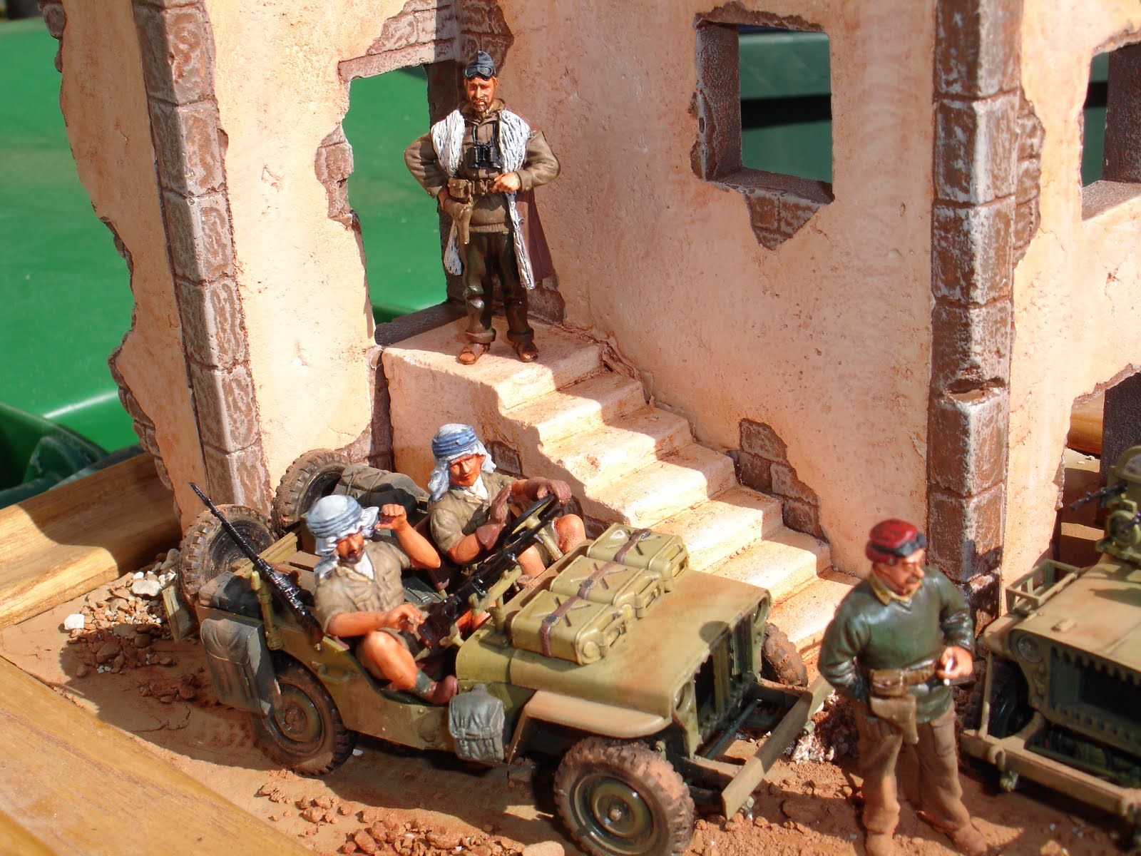 All About Models And Figures Lrdg Jeeps Diorama