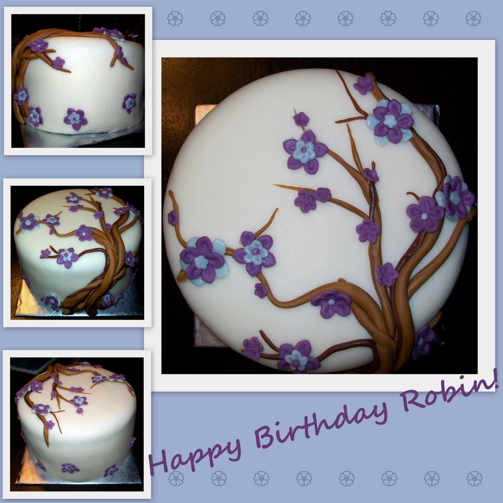 Katies Cakes Happy Birthday Robin