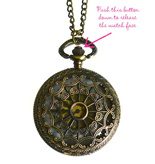 Pocket watch necklace instructions love hearts and crosses q how do i change the time on my pocket watch necklace aloadofball Choice Image