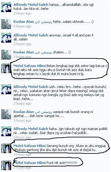 foto Ugutan Mohd Safuan Hilmi Di Facebook