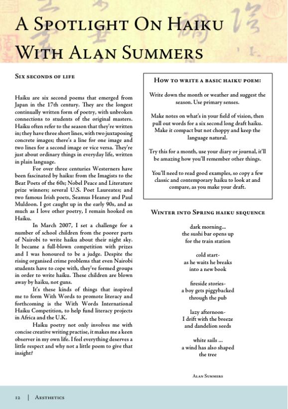 [Magazine+haiku+article]