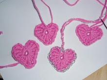 DIY, søde små hæklede hjerter