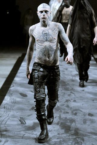 tattooed guy. THIERRY MUGLER 2011 men