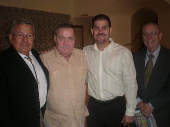 José A. Vargas, Nicolás Pérez, J.C. León y Alberto Pardiño