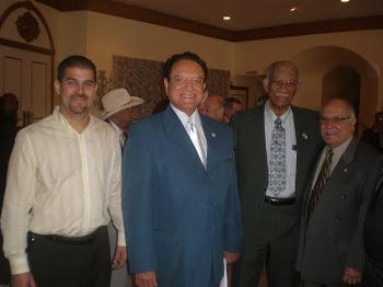 J.C. León, Luis Conte Aguero, Miembro del CNP Exilio y Roosevelt Bernal