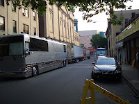 tour buses at Tower Theater