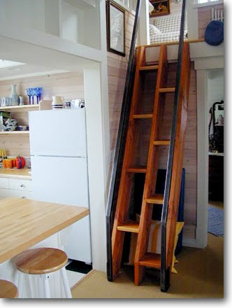 Not so boring ships ladder provides fun access to the loft