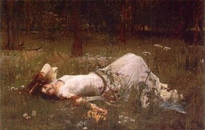 """Ophelia"". Waterhouse, Mónica López Bordón, poesía, Editorial Playa de Ákaba"