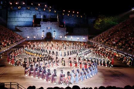 Military Tattoo, Edinburgh Tattoos were commonplace in the late 1800s with