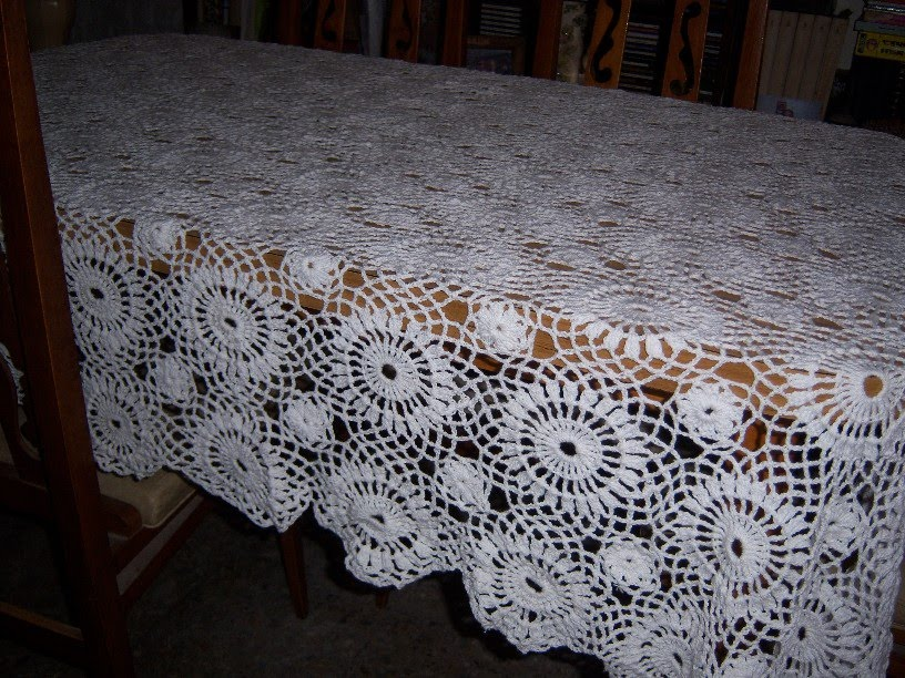 patrones de manteles rectangulares tejidos en crochet - Graffiti