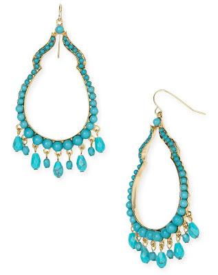 Amazon.com: Golden Butterfly Wing Turquoise Chandelier Earrings