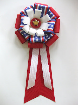 crafts tutorial: patriotic ribbon badge