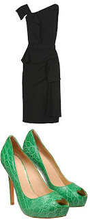 rm by roland mouret dress and alexander mcqueen shoes
