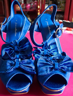 Matalan blue bow platforms