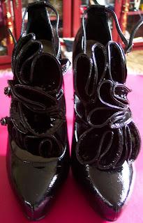 Matalan ruffled Louboutin style shoes