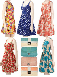 dorothy perkins spring dresses and clutch bags
