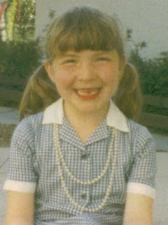 Pearls, the perfect accessory to every 5 year olds school uniform!